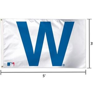 """Brand new Cubs """"W"""" flag"""